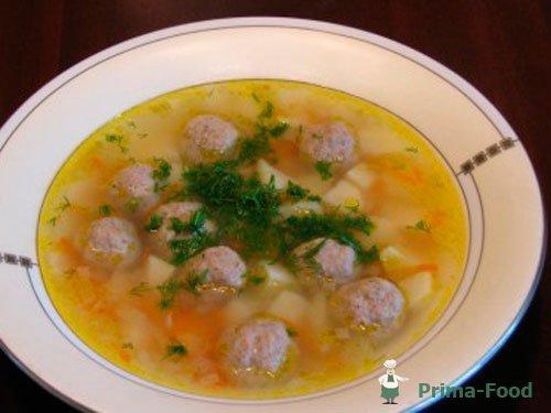 Суп фрикадельками рецепт приготовления фото