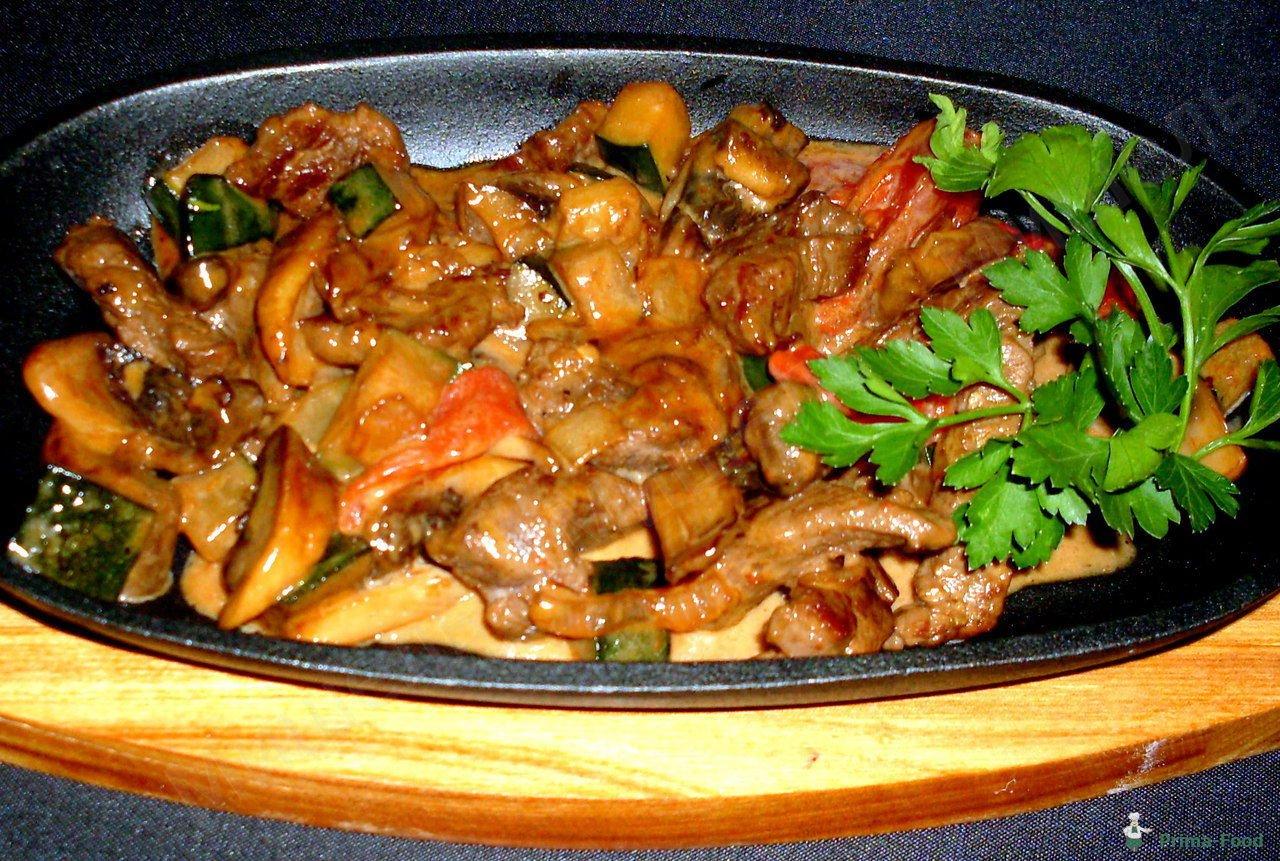 Индейка с грибами с духовке рецепт пошагово