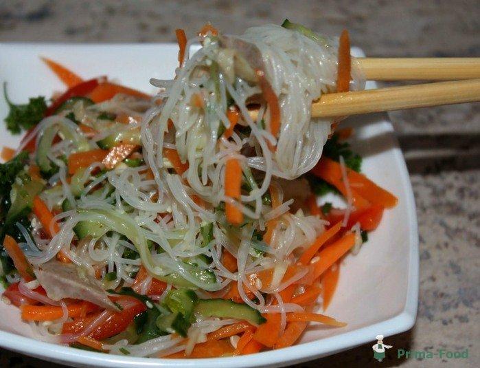Рецепты салатов с фунчозой с фотографиями