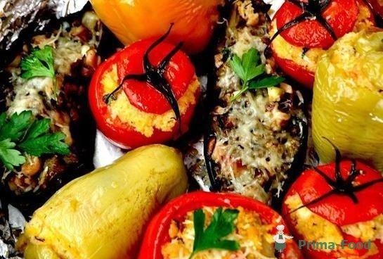 Фаршированные овощи фаршем рецепт с фото
