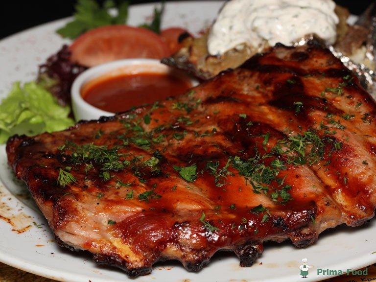 Свиные ребра в духовке рецепт с фото