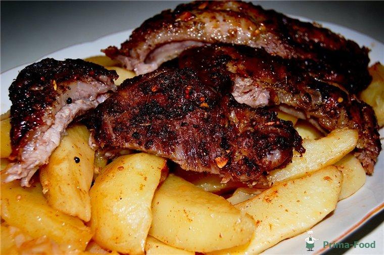 свиные ребра с картошкой рецепт с фото