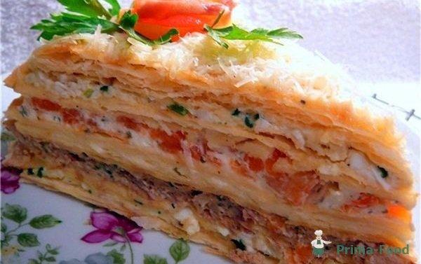 фото-рецепты закусочный торт